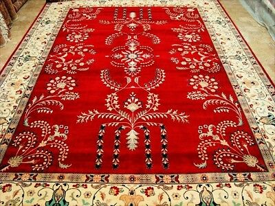 Red Kash Royal Exclusive Hand Knotted Fine Carpet 9X12 Art