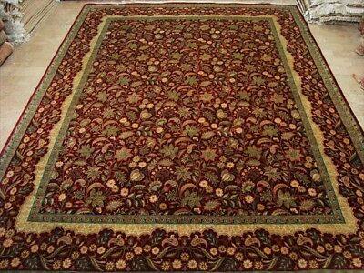 Green Isfahan Design Hand Knotted Fine Carpet 10X14