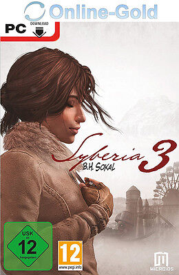Syberia 3 III Key - STEAM Digital Download Code - PC - NEU [Abenteuer] [DE] [EU]