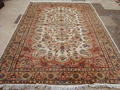 Wow Exclusive Shab Chirag Flowers Hand Knotted Rug Wool Silk Carpet 6X4 Ra