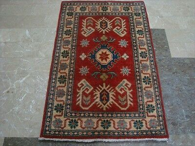 SUPER KAZAK CAUCASION VEGETABLE DYED GHAZNI WOOL HAND KNOTTED RUG CARPET 4.2x2.8
