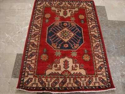 SUPER KAZAK CAUCASION VEGETABLE DYED GHAZNI WOOL HAND KNOTTED RUG CARPET 4.9x3.3