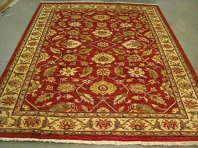 EXCLSUIVE RARE CHOBI VEGE DYED MAHAL ZEIGLER HAND KNOTTED RUG CARPET 9.7x7.11