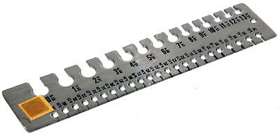 Wire and Sheet Sizing Gauge With Chart