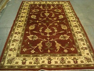 EXCLSUIVE RARE CHOBI VEGE DYED MAHAL ZEIGLER HAND KNOTTED RUG CARPET 9.1x6.1