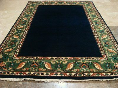 MID NIGHT BLUE GABBEH AFGHAN HAND KNOTTED RUG 5.10x4.2