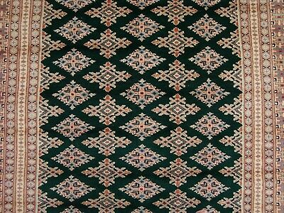 EXCLUSIVE GREEN JALDAR LOVELY HAND KNOTTED RUG WOOL SILK CARPET 8.3x5.0