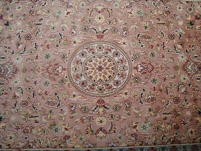 Chirag Flowral Carpet Hand Knotted Rug Wool Silk 6X4