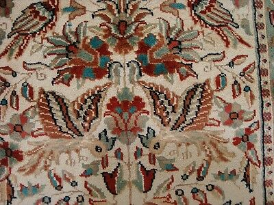 LOV TREE OF LIFE PEACE DEER BIRD HAND KNOTTED RUG WOOL SILK CARPET 4x2.6 FB-2440