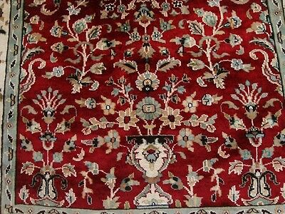 FLOWER VAAS LOVE RED EXCLUSIVE HAND KNOTTED RUG WOOL SILK CARPET 6x4 FB-2242