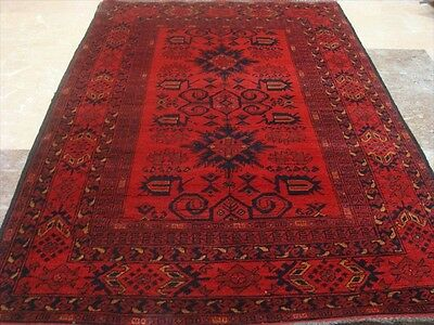 Exclusive Khal Muhamadi Afghan Hand Knotted Fine Area Rug Wool Carpet (5.1x3.6)
