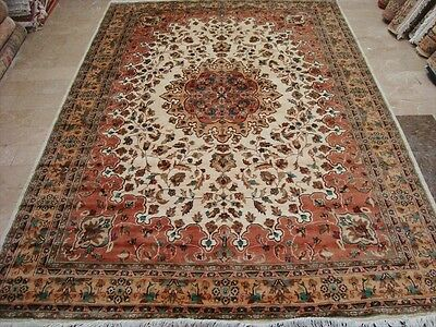EXCLUSIVE KASHA ABSHAR MEDALLION HAND KNOTTED RUG WOOL SILK CARPET 9x6 FB-2375