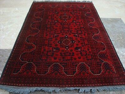 Khal Muhamadi Afghan Fine Rectangle Area Rug Hand Knotted Wool Carpet (5.0x3.3)'