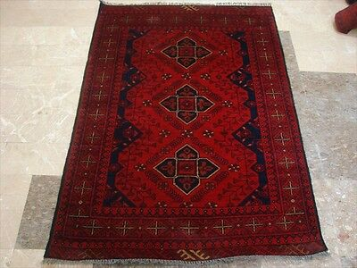 Khal Muhamadi Fine Afghan Area Rug Hand Knotted Wool Carpet (4.9 x 3.4)'