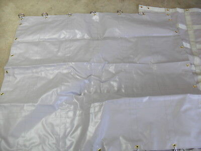 """QTY 2 - Baggage Cart Panel 57""""x52"""" GRAY Vinyl Curtain protective weather shield"""