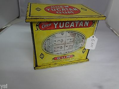 Vintage Yucatan Chewing Gum Tin Box Counter Store Display Advertising  G-827