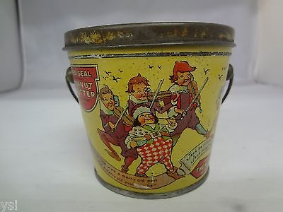 Vintage Red Seal   Peanut Butter Pail Tin Advertising Collectible 423-X