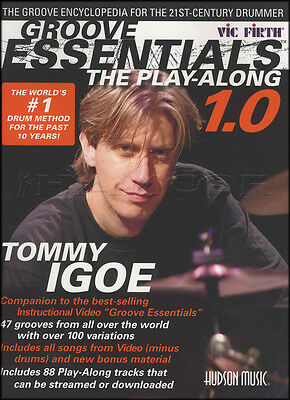 Tommy Igoe Groove Essentials 1.0 Drum Music Book with Audio Learn To Play Method