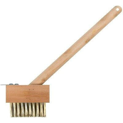 """15"""" Patio Block Cleaning Scrubbing Brush Decking Paving Weed Wire Scraper"""