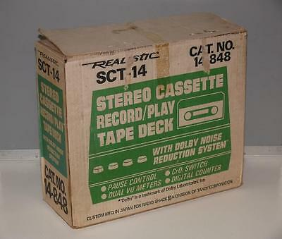 Realistic SCT-14 Stereo Cassette Record/Play Tape Deck ~ Radio Shack / Tandy