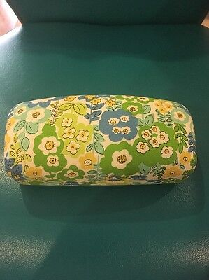 NEW Vera Bradley hinged Hard Case glasses sunglasses English Meadow