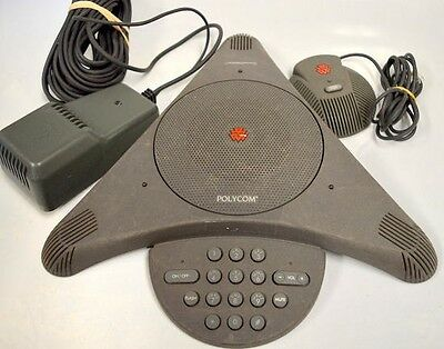 Polycom SoundStation EX 2201-03309-001, Power Supply and 1 speakers.