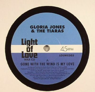 "JONES, Gloria/THE TIARAS - Gone With The Wind Is My Love - Vinyl (7"")"
