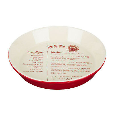 From Scratch 1.65 Litre Deep Round Ovenproof Baking Bake Kitchen Red Pie Dish