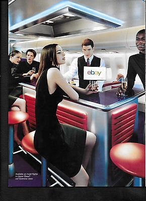 Virgin Atlantic Airways Boeing 747 2 Page Bar At 35,000 Feet Upper Class 2 Pg Ad