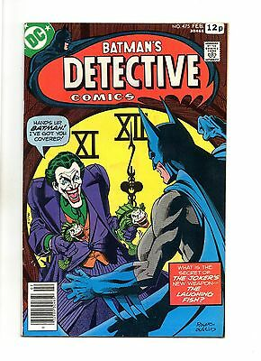 Detective Comics No 475 Feb 1978 (VFN+) Classic Joker Cover, Marshall Rogers art