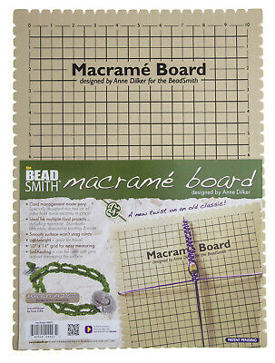 Beadsmith Macrame Board, 11.5 X 15.5 Inches