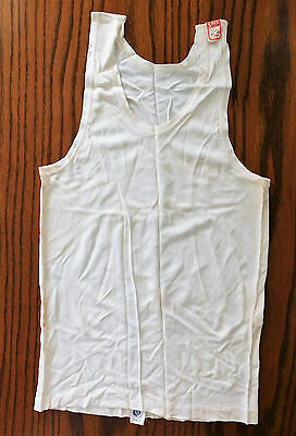 Vintage silk vest 1930s underwear UNUSED for small men or teenager SHOP SOILED