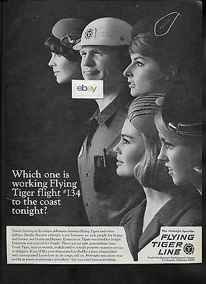 Flying Tiger Line 1968 Which One Is Working Flight #134 To The Coast Tonight? Ad