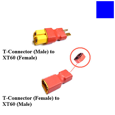 XT60 to T-connector T-Dean Lipo Battery RC Car Plane Adapter Plug # Male Female