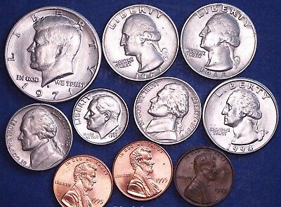 United States Coin collection, half dollar to one cent  *[9107]
