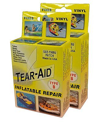 Tear-Aid Repair Patches Type B Vinyl Inflatable Kit, Yellow