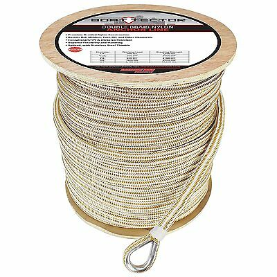 "Extreme Max 3006.2282 BoatTector 5/8"" Premium Double Braid Nylon Anchor Line..."