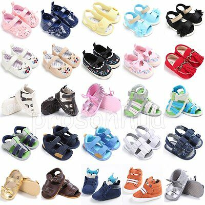 Infant Toddler Kids Baby Boy Girl Soft Sole Crib Shoes Sandals Sneaker Prewalker