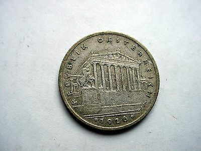 1926 Austria 1 Shilling Silver Coin - Must See