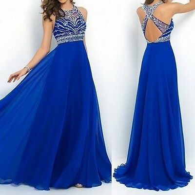 Women Wedding Bridesmaid Formal Evening Party Long Ball Prom Gown Cocktail Dress