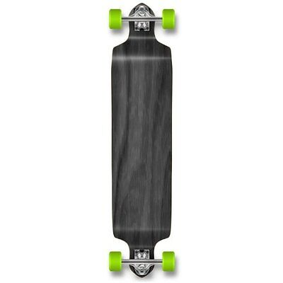 YOCAHER Professional Speed Drop Down Stained Complete Longboard, Black