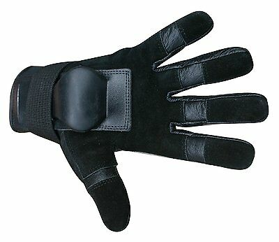 Hillbilly Wrist Guard Full Finger Gloves (Black, Large)