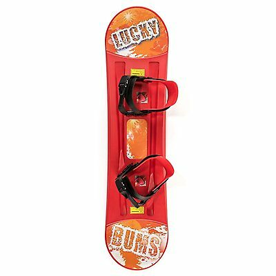 Lucky Bums Plastic Snowboard (Red, 95-cm)