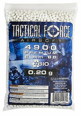 Tactical Force Bio Airsoft BB, 0.25g/6mm, White