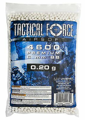 Tactical Force Premium Airsoft BB, 0.20g/6mm, White