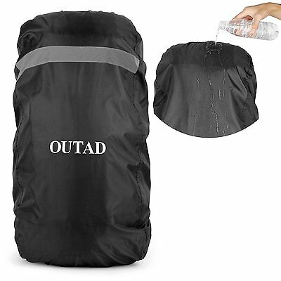 OUTAD Waterproof Backpack Rain Cover With Reflective Strip (Black, L for...