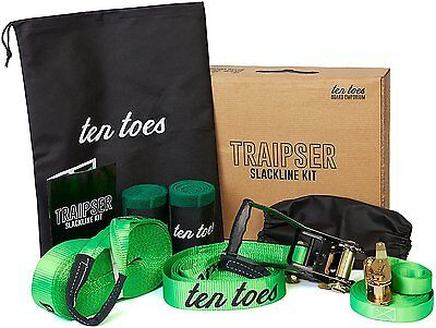 Ten Toes Boards Emporium Slackline with Teaching Line, 50-Feet