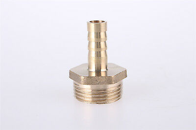 "Brass 10mm Hose Barb to 3/4"" PT Male Thread Pneumatic Fitting Connector"