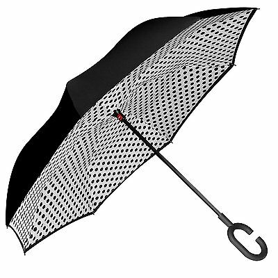 Bagail Double Layer Inverted Umbrellas Reverse Folding Umbrella Windproof UV...