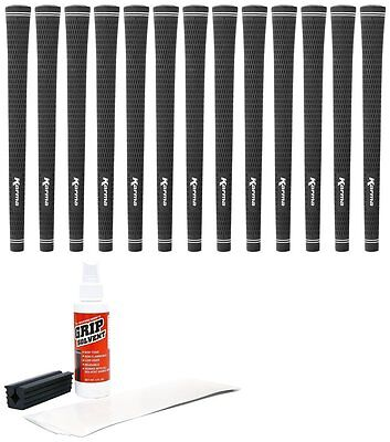 Karma Black Velvet Midsize (Plus 1/32-Inch)-13 Piece Golf Grip Kit with...